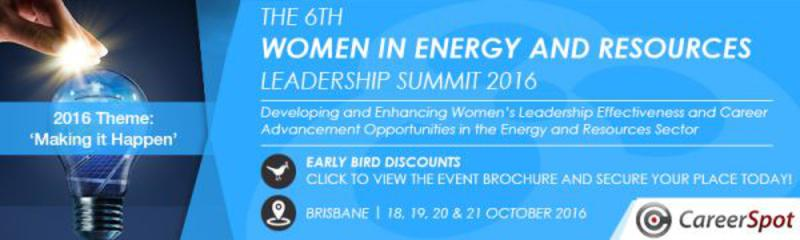 The 6th Women in Energy and Resources Leadership Summit 2016